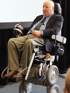 Michael Graves, September 2012, in wheelchair