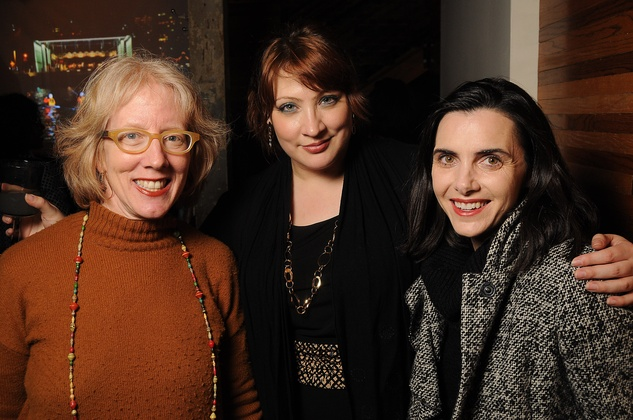 31 Sarah Gish, from left, Jenni Rebecca Stephenson and Delicia Harvey at the CounterCurrent Kickoff Party March 2015