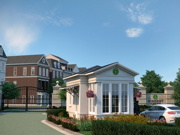Somerset Green Hines gated community grand entrance rendering February 2015