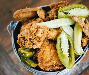 Lucy's Fried Chicken bucket
