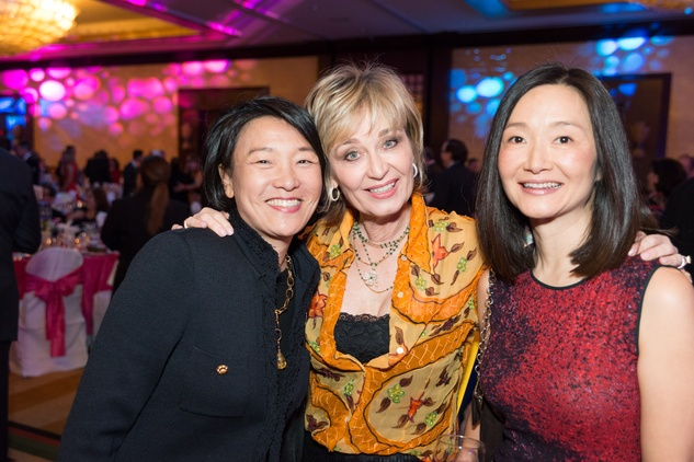 0296 Susan Jhin, from left, Cathy Borlenghi and Susan Gorman at the Cristo Rey Jesuit Gala January 2015