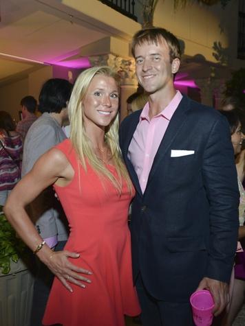 Elizabeth Frolin, Emerson Farrell at Party in Pink Hotel ZaZa July 2013