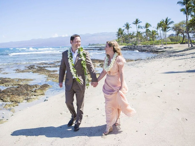 Carl and Casey in Hawaii for wedding in March