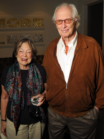 19 Wendy Waitriss and Fred Baldwin at the Art Circle launch October 2013