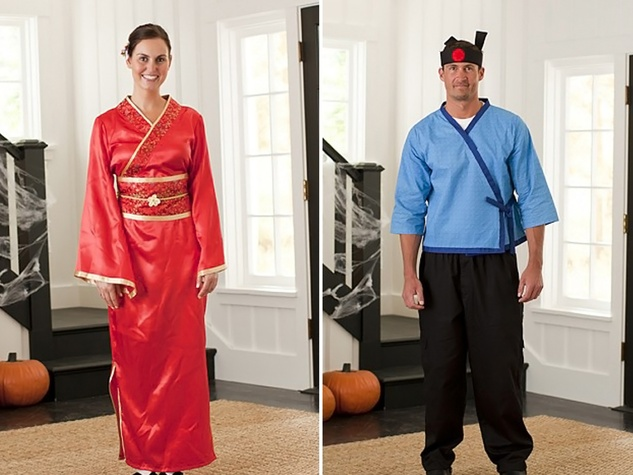 Pottery Barn sushi chef costumes Halloween October 2013
