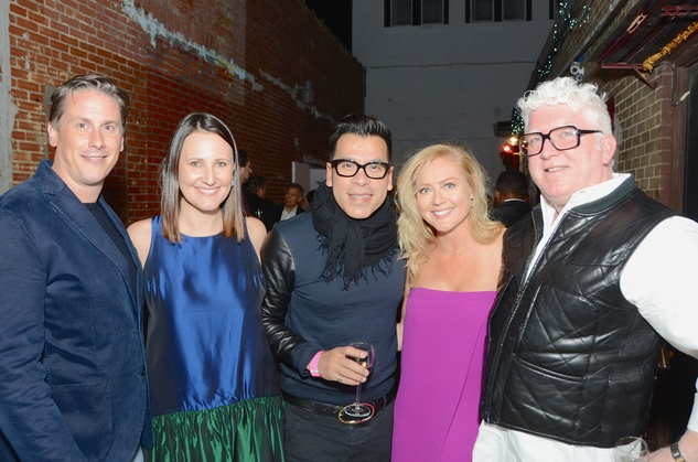 13 Daniel Turner, from left, Kate Allen Stukenberg, Jay Landa, Caroline Starry LeBlanc and Tim Moloney at the DiverseWorks Fashion Fete November 2014