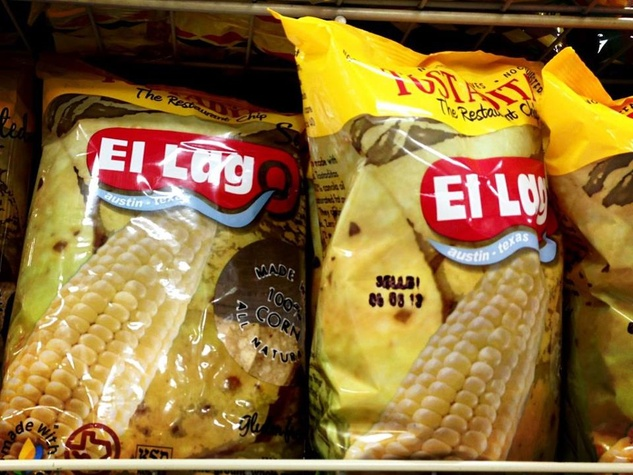bags of El Lago tortilla chips on store shelves