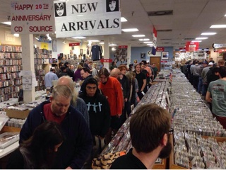 Cd Source interior on Record Store Day 2014