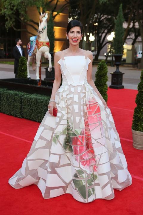 Houston, Opera Ball Gowns, April 2016, Kelli Cohen Fein in Carolina Herrera.