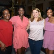 14 Shirley James, from left, Miatta McGraw, Dede King and Brends Banks at the West Ave Turns Pink party October 2013