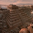 Aztec Temple matte painting From Dusk Till Dawn the movie