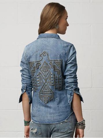 Denim & Supply Denim Studded Western Shirt