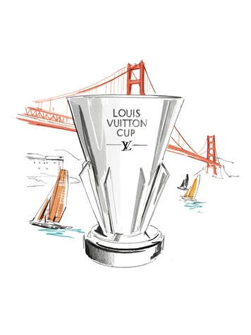 Louis Vuitton Americas Cup July 2013 trophy graphic