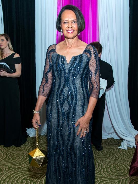 Houston, Women of Distinction fashionable gowns, Feb 2017, Gayla Gardner