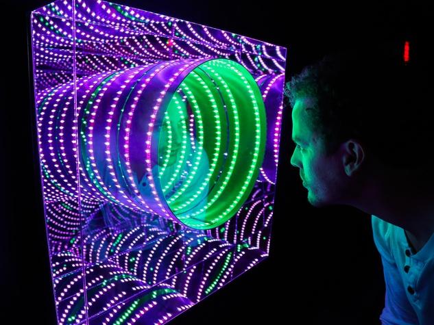 POP Austin International Art Show at Fair Market Tunnel View by Hans Kotter