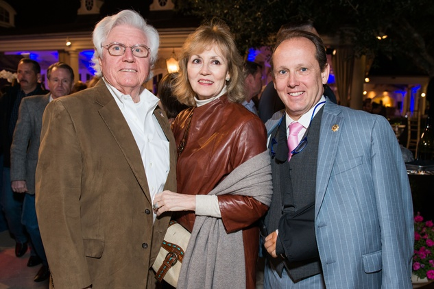 Cappy and Darlene Bisso, from left, with Franco Valobra at the True Blue Gala November 2014