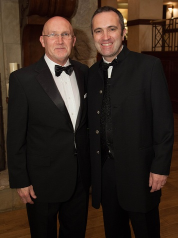 Bill Shaw, left, and Aidan Cronin at the University of St. Thomas Irish Gala December 2013