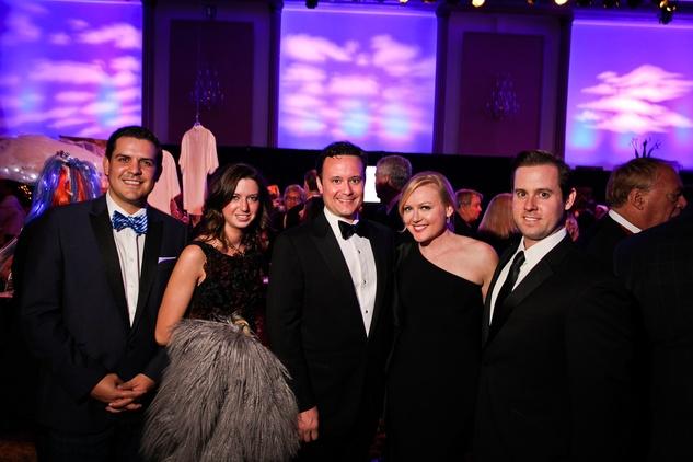 John Morton, from left, Tamar Mendelssohn, Jared LeBlanc, Caroline Starry LeBlanc and Chris Brown at DREAMSCAPE The Orange Show's 32nd Annual Gala November 2013