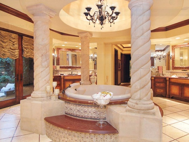 Avery Johnson mansion for sale The Woodlands Spring June 2013 master bath