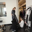 Cesar Galindo fitting with model for Czar show February 2014