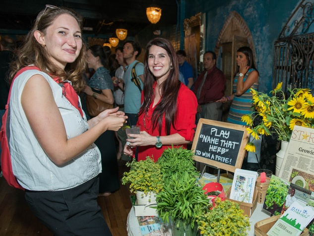 14 Daniella Lewis, left, and Catrina Stevens at the CultureMap Summer Social July 2014