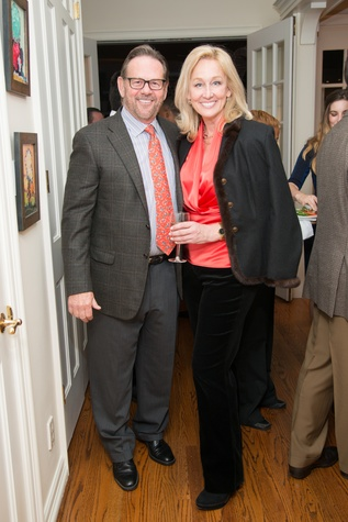 News, Shelby, Holiday Schmooze, Dec. 2014, Stan Neeley and Robin Vermeil