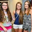 21 Haley Cook, from left, Sarah Cook and Krysta Risques at the Jake Worthington at IW Marks event June 2014