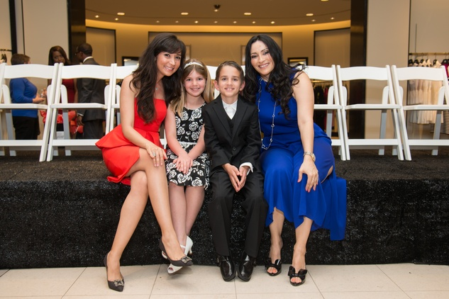 Hasti Taghi, from left, Dana, Luca and Rosie Murphy at the Leukemia & Lymphoma Society Man & Woman of the Year Kick-off April 2015