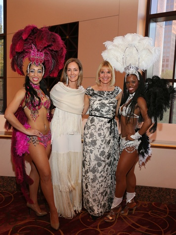300 Houston SPA gala April 2013 Renee Carey and Lisanne Rogers with show girls