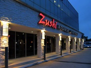 Zushi Japanese Cuisine Houston exterior at night