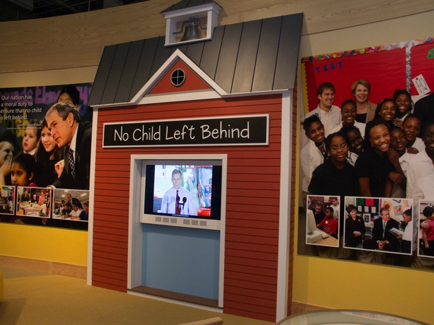No Child Left Behind exhibit at George W. Bush Presidential Center in Dallas