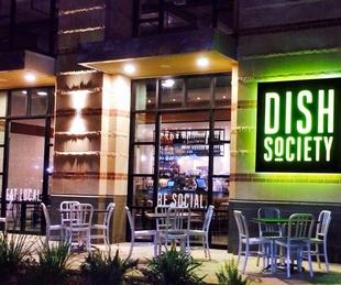 Dish Society Houston exterior night January 2014