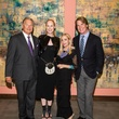 2801 George Ward, from left, Scott Peck, Carolyn Farb and George Lancaster at the Barbara Hines Art Opening in Dallas October 2014