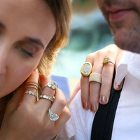 Menagerie engagement wedding rings