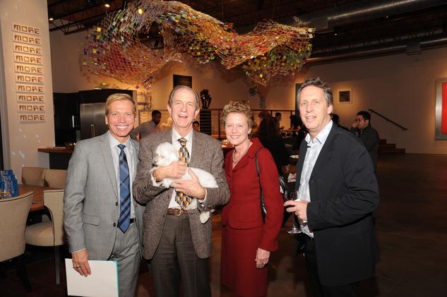 10 7224 Jonathon Glus, from left, Brad Bucher, Laura Bellows and Ron Witte at the reception for Jamie Bennett November 2014