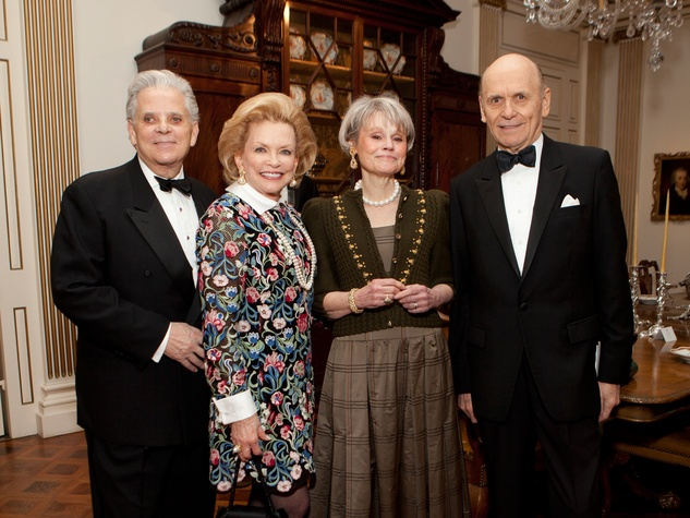 Victor Costa and Jerry Ann Woodfin Costa, from left, Muffet Blake and Robert Murray at the Rienzi Society dinner January 2014