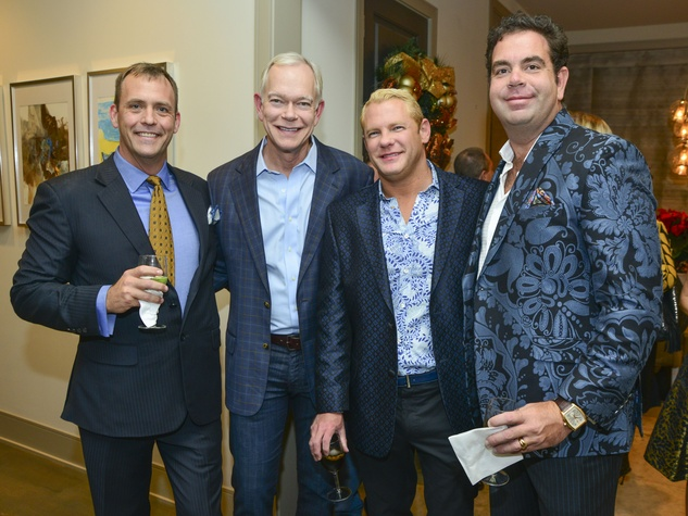 10 David Crawford, from left, Jay Jones, Scott Jacqmeir and Patrick Gibson at the Holiday Schmooze December 2013