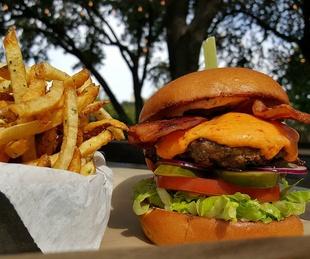Pimento burger at Preston Hollow Grill in Dallas
