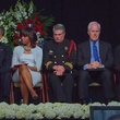 West, Texas, memorial service, April 2013 dignitaries on stage Obamas