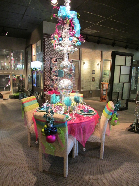 The Houston Design Center Deck the Tables December 2014 Showroom 273 Dauphin Sales Disco Christmas entire table