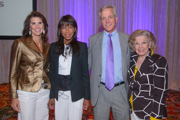 Lisa Malosky, from left, Natalie Cole, Rob Arnold and June Waggoner at the Council on Alcohol and Drugs luncheon May 2014