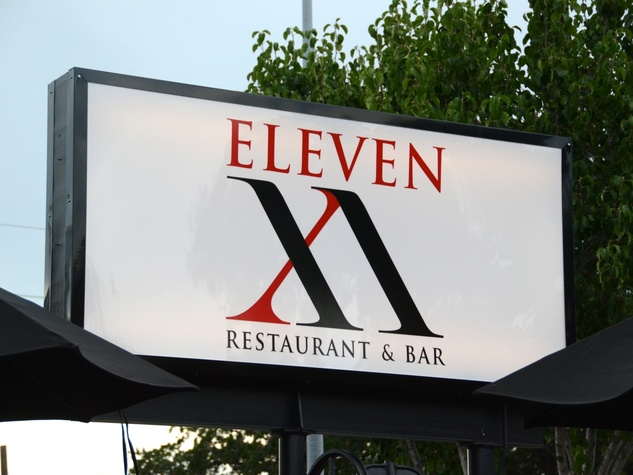 6 Eleven XI restaurant and bar sign