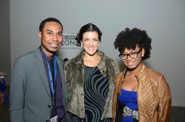 Jeremy Niederheiser, from left, Jessica Brown and Jessica Montgomery at the Houston Cinema Arts Festival opening party November 2014