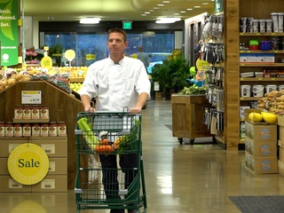 Chef John Hrinkevich of Pie Tap Pizza shopping at Whole Foods
