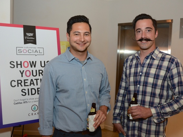 43 Greg Wheeler, left, and Ali T. at the CultureMap Social at Gremillion and Co. Fine Art March 2015