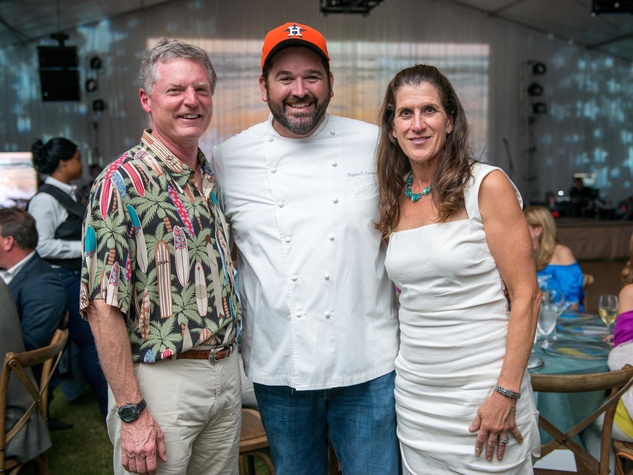 Steve Gibson, Bryan Caswell and Kate Gibson at Toast the Coast Nature Conservancy Gala