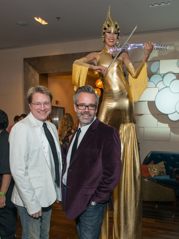 6 Matt Burrus, left, and Michael Pearce at the JW Marriott Houston Grand Opening November 2014