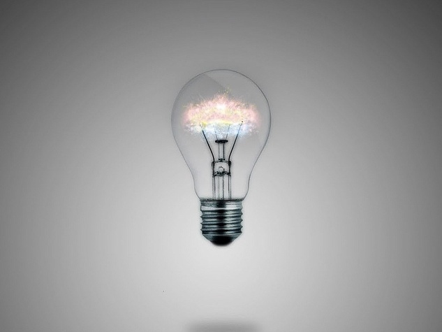 light bulb, idea, glowing