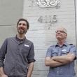 Craig Drake and Robert Brandenburg in front of the Mondo Gallery