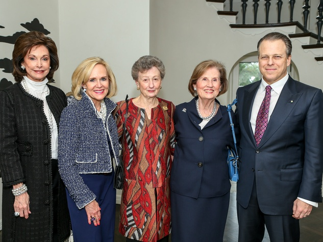 Gene Jones, Elaine Agather, Diane Roberts, Norine Haynes, Maxwell L. Anderson, Art Ball Tea